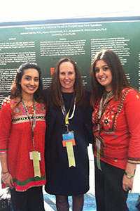 Jasmeet Samra '13 and Husna Mohammadi '13 with Dr. Jeannene Ward-Lonergan with their poster presentation at CSHA.