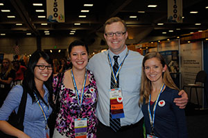 Catherine Vo '13, Rosanne Cereghino '13, Dr. Todd Davenport, and Nicole Basham '13 at CSM.