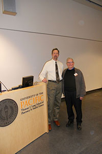 Dr. Deyle and Dr. Joseph Serra at the lecture.