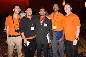 Christopher Pham '15, Khoa Luong '15, Urvish Italia '14, Jason Kurian '15, and Thomas Person '15 at the meeting.