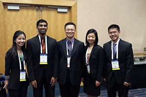 Pacific team with Dr. Allen Shek, faculty advisor.