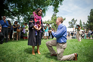 The proposal photo that went viral.